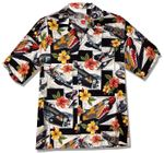 Hibiscus Fighters Airplanes II Men's Shirt