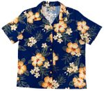 Hibiscus Garden Women's Rayon Camp Shirt