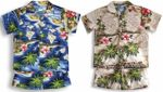 Hibiscus Hawaiian Islands cotton 2pc Cabana Set