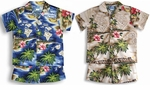 Hibiscus Hawaiian Islands boy's made in Hawaii cotton 2 pc set