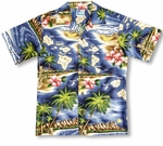 Hibiscus Hawaiian Islands Boy's made in Hawaii shirt