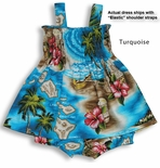 Hibiscus Hawaiian Islands girl's bungee 2pc set