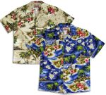 Hibiscus Hawaiian Islands Men's Aloha Shirt