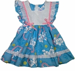CLOSEOUT Hibiscus Lei Girl's 2 Toddler Pinafore Dress