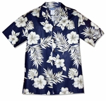Hibiscus Monstera Men's Aloha Shirt