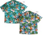 CLOSEOUT Hibiscus Outrigger Island men's shirt
