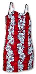 Hibiscus Panel Lei Women's Spaghetti Strap Sundress