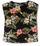 Hibiscus Stephanotis Womens Pullover Blouse