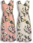 Hibiscus Stephanotis women's sleeveless long dress