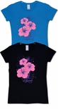 Hibiscus Swirl Hawaiian Islands women's cotton t-shirt
