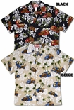 Hibiscus Vintage Woody mens cotton shirt