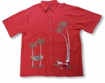 Santa's Christmas Holiday Layover Men's Aloha Style Shirt