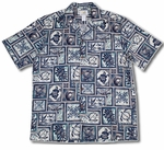 Block Honu (Turtle) men's Two Palms Aloha shirt