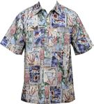 Honu Tiki Tapa Men's Pull Over Reverse Shirt