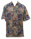 Honu Tapa Go Barefoot Vintage Aloha Shirt - Sold Out