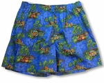 Hula Dancers Woodie Uni-Sex Bamboo Boxer Shorts