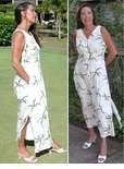 Hurricane Button Front Style190B Long Tank Dress