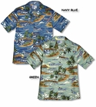 Island Aviation Airplanes Men's Hawaiian island Shirt