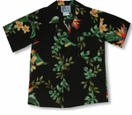 CLOSEOUT Island Bird of Paradise Panel Boy's Shirt