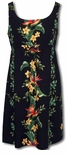 CLOSEOUT Island Bird of Paradise Panel Empire Tie Front
