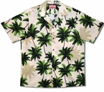 Island Coconut Trees men's cotton rjc aloha shirt
