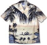 Island Escape RJC Hawaiian Cotton Border Print Shirt