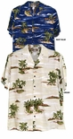 Islands in the sky mens tropical print aloha shirt