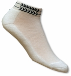 Men's Jaws Shark Fin Tattoo Cuff Socks Pack of 2