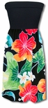 Bold Hibiscus Plumeria Strapless Knit Top Skirt