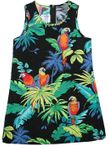 Jungle Parrot Gir's A Line Short Tank Dress