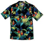 Jungle Parrot Mens Cotton Aloha Shirt