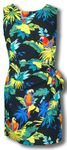 Jungle Parrots cotton Sarong Dress