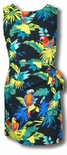 Jungle Parrots cotton faux Sarong wrap dress
