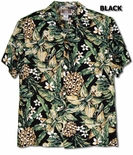 Jungle Pineapple men's rayon aloha shirt