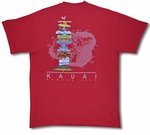 Kauai Sign Post Garden Isle cotton Tee Shirt