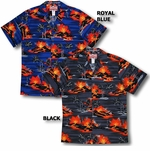 Kilauea Big Island Volcano men's aloha shirt