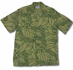 Ku'u Lei Men's Two Palms Label 100% Rayon