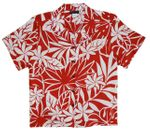 Women's April Blooms rayon aloha camp shirt