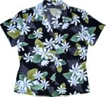 Tahiti Tiare slimming darted back made in Hawaii blouse