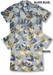 Leaves of Imagination vintage peached cotton mens aloha shirt