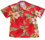 Leilani Boy's Two Palms Label Hawaiian Rayon Shirt