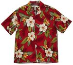 Leilani Two Palms men's tropical flower aloha shirt