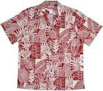 Local Leaf Bloom Flower Box Color men's cotton aloha shirt