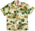 Lost Plumeria Island a Traditional cotton Aloha shirt
