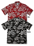 (Woodcut) Love Shack men's Hawaiian shirt