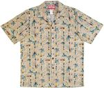 Lucky Bamboo Jungle men's cotton aloha shirt