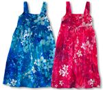 CLOUSE OUT Luminous Flower Energy Young Girl's Wide Strap Elastic Back 100% Rayon Hawaiian style Dress