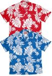 Magnificent Monstera Leaf men's RJC cotton aloha shirt
