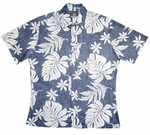 Magnificent Monstera Placket Reverse style Tropical  print shirt