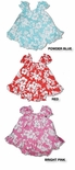 Maile Hibiscus Girl's Puff Sleeve 2pc Set
